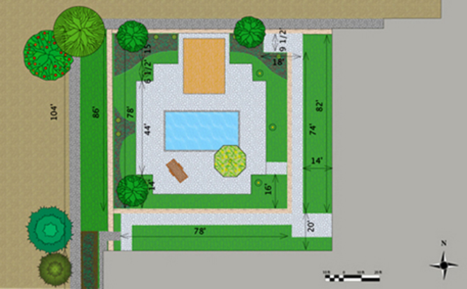 Hotel Pool Area Layout