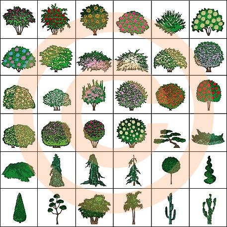 Artisans Gardens Landscape Design Symbols Amp Swatches