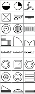 Symbols in Plan - B&W